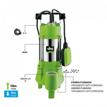 Ferramentas Eléctricas - 1219 - Bomba Submersivel Sumidora 1100W- 1.5HP VITO