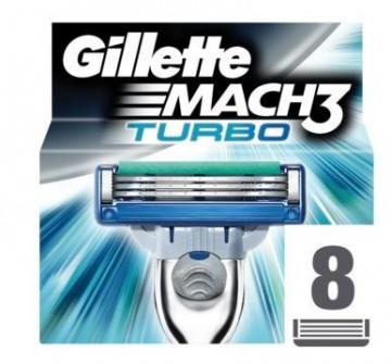 Higiene Pessoal, Detergentes e Ambientadores - 4267 - Gillette Mach 3 Turbo Lâminas c/8 K.M.S