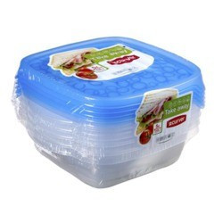 KETER CURVER 214412 Take Away Set 5x0,6L quadrado sandwich P(cm)17,5 A(cm)10,5 L(cm)16