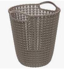 KETER CURVER 230094 Cesto Papeis Knit Castanho (7L) P(cm)23,9 A(cm)27,2 L(cm)23,1