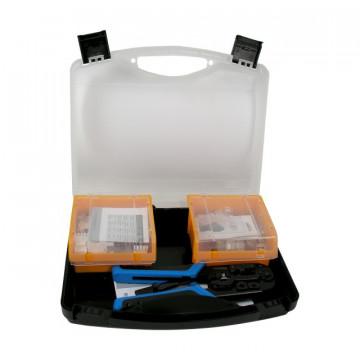 Kit | Mala de transporte RJ45 UTP Cat 6 (incluí 50 conec. 209902 + 15 conect. 209901 + 1 alic. 209801)