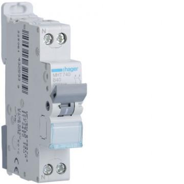 MHT740 - Disjuntor 1P+N 40A B 4.5/6KA 1M HAGER EAN:3250614325939