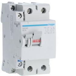 SA240 - Interruptor bipolar 2x40A 2,5M HAGER EAN:3250615512406