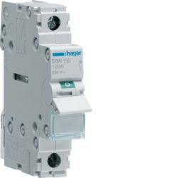 SBN190 - Interruptor Modular 1P 100A HAGER EAN:3250615510280