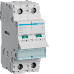 SBN240 - Interruptor Modular 2P 40A HAGER EAN:3250615510174