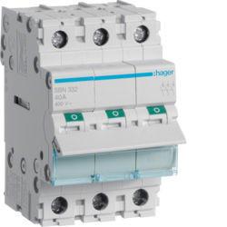 SBN332 - Interruptor Modular 3P 32A HAGER EAN:3250615510143