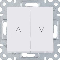 WL0320 - lumina 2 Botão duplo p/ estores, branco HAGER EAN:8694407000392