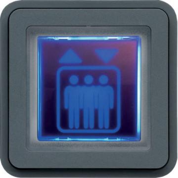 WNA602 - cubyko - Sinalizador azul, cinzento HAGER EAN:3250617174626