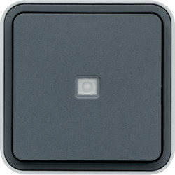 WNC021 - cubyko s - Botão inversor c/sinalz, cinz HAGER EAN:3250617170215