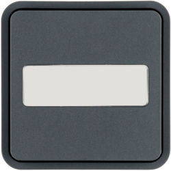 WNT922 - Tecla 1x Cubyko KNX c/ porta-etiq, cinza HAGER EAN:3250617178747