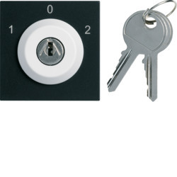 WXF617N - gallery 2M Botão chave, 3 pos., preto HAGER EAN:3250617198813