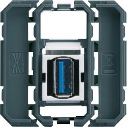 WXF644 - gallery Tomada USB 3.0, passagem HAGER EAN:3250617198943