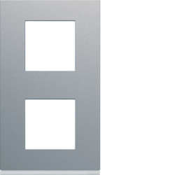 WXP0142 - gallery 2x2M Quadro x2 vert. 71mm, alum HAGER EAN:3250617199315