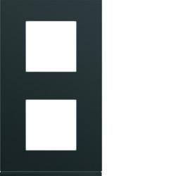 WXP0242 - gallery 2x2M Quadro x2 vert. 71mm, preto HAGER EAN:3250617199469