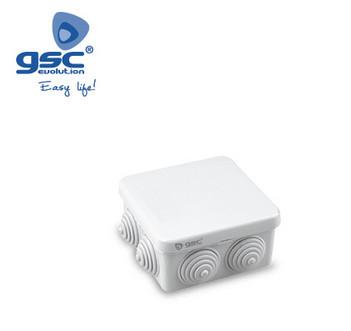 000301311 - Caixa de junção estanque cinza quadrada 80x80x40mm IP54 8433373013117