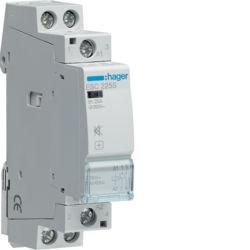 01 - ESC225S - 3250612400034 Contactor silencioso 25A, 2NA, 230V 1M HAGER