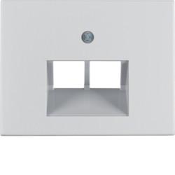 14097003 - K.1/K.5 - espelho RJ45 duplo, alumínio BERKER EAN:4011334384212