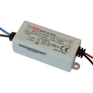202233.295 - Drive CC Led Mean Well IP42 8-16Vdc 500mA APC-8 - Quant. fornecida = 1 un