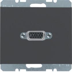 3315417006 - K.1/K.5 - tomada VGA paraf., antrc mate BERKER EAN:4011334330448
