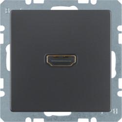 3315426086 - Q.x - tomada HDMI, antracite BERKER EAN:4011334379805