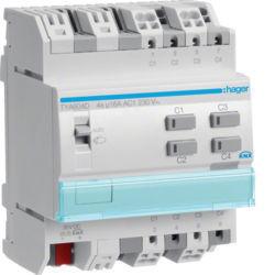 42 - TYA604D - 3250616059832 Actuador bin./est. 4 canais 16A C KNX-S HAGER