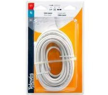 4371 -8424450043714 TELEVES - Cabo Coaxial Ø6,6mm PVC Branco 10m (Blister T2)