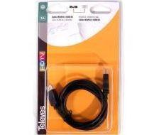494501 -8424450144152 TELEVES - Cabo HDMI M-M Preto 1,5m (Blister T1)