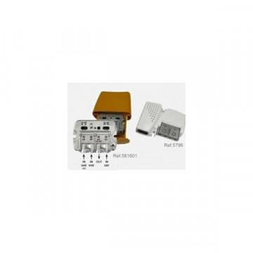 """567802 -8424450165911 TELEVES - Amplificador Mastro NanoKom 3e/1s """"EasyF"""" : UHF[dc]-VHFmix-FImix[dc] con USOS + Alimentação PicoKom 1e/1s """"EasyF"""" 12V-220mA. Kit com Refs.: 561601 e 5796"""