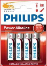009000312 - 8433373050105 Pilha alcalina PHILIPS LR6 (AA) Blister 4 Ud.