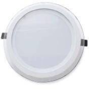 702145 - 8433373021457 Downlight emp.LED vidro redondo 22W-branco 4200K