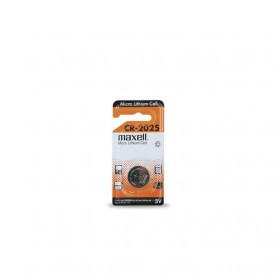 9000210 - 4902580133474 Bateria de lítio MAXELL CR2025 3V, Blister 1 unid.