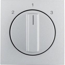 BERKER - 1084140400 - S.1/B.x - botão rotativo 2-1-3, alum mt 23