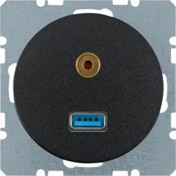 BERKER - 3315392045 - R.1/R.3 - USB / jack 3.5mm, preto 23