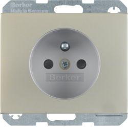BERKER - 6765757004 - K.1/K.5 - tomada FR obturad., inox 23