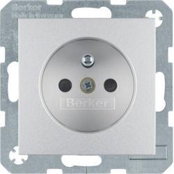 BERKER - 6765761404 - S.1/B.x - tomada FR obturad., alum mt 23