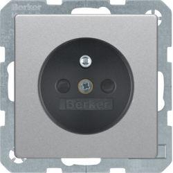 BERKER - 6765766084 - Q.x - tomada FR obturad., alumínio 23