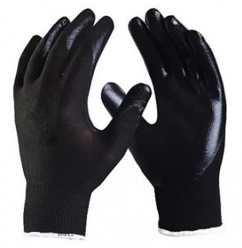 Equipamentos de Protecção - 5797 - Luva Nylon Recoberta Nitrilo Preto 10