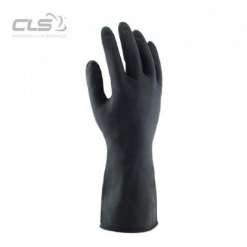 Equipamentos de Protecção - 5820 - Luva Fibra Algodão Revest.Látex Preto 33cm 8