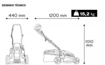 Ferramentas Eléctricas - 892 - Máquina Relva 1400W- 340mm VITO
