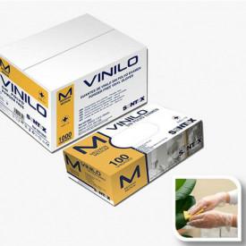 HOSPITALAR - GD10 -P - Luvas VINIL SEM PÓ STANDARD Descartável com substancia revestida TAM P (100 uni) SANTEX