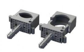 JSL Material Fixacao Abraçadeiras de serrilha agrupáveisc/ bucha M6 rápida -