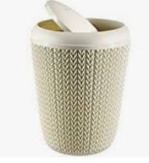 KETER CURVER 235057 Cesto Papeis baño Knit branco Oasis 7 L P(cm)22,4 A(cm)29,5 L(cm)22,4