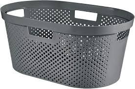 KETER CURVER 245675 Cesta Infinity recycled Gris escuro 39L P(cm)39 A(cm)27 L(cm)38