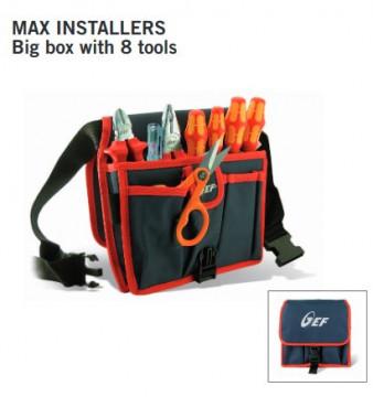 MAX INSTALLERS - HU000399 - Saco com 8 ferramentas profissionais HT ITALIA