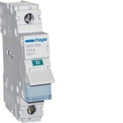 SBN199 - Interruptor Modular 1P 125A HAGER EAN:3250615510327