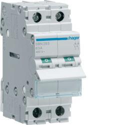 SBN263 - Interruptor Modular 2P 63A HAGER EAN:3250615510211