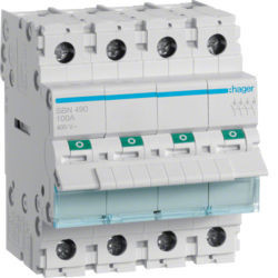 SBN490 - Interruptor Modular 4P 100A HAGER EAN:3250615510310