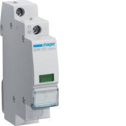 SVN121 - Sinalizador LED verde 230V AC HAGER EAN:3250615721600