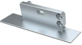 TPE201 - Topo alumínio Esquerdo P/Perfil ZATI - Quant. fornecida = 1 un