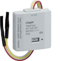 TRM702A - Micro módulo 2 entradas RF - pilhas HAGER EAN:3250615989024